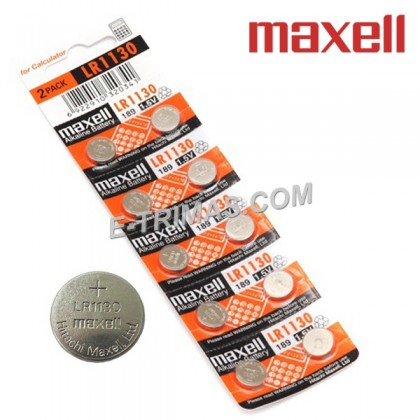 Maxell Japan LR1130 AG10 LR54 189 Alkaline Coin Watch Battery (10PCS)