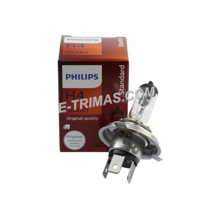 13342 Philips H4 P43T Headlamp Headlight Bulb Bus Truck 24V