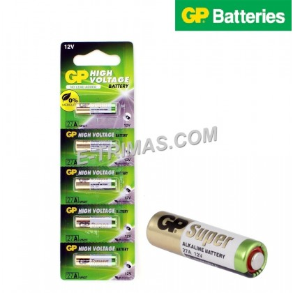 5PCS GENUINE 27A L828 MN27 A27 GP Alkaline Battery For Myvi Remote Control