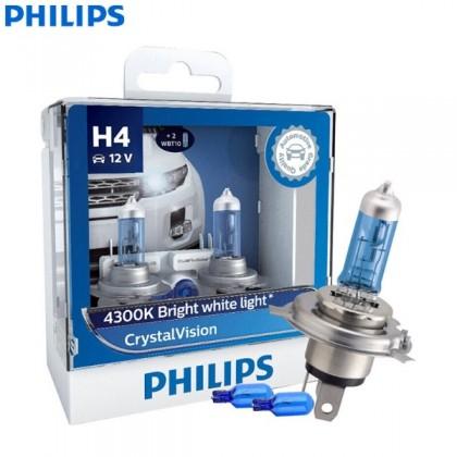 GENUINE Philips Crystal Vision 4300K H1/H3/H4/H7/H8/H11/HB3/HB4