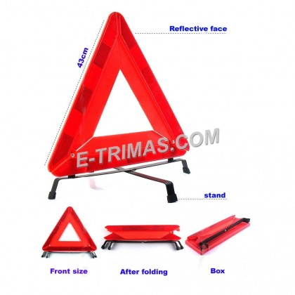 Heavy Duty Warning Safety Reflective Triangle Lorry Truck