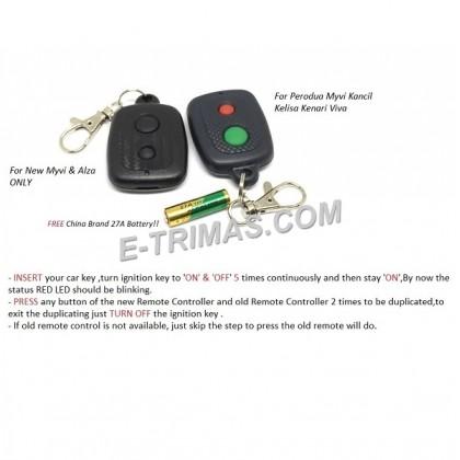 Perodua Myvi Kancil Kelisa Kenari Viva Alarm Remote Control