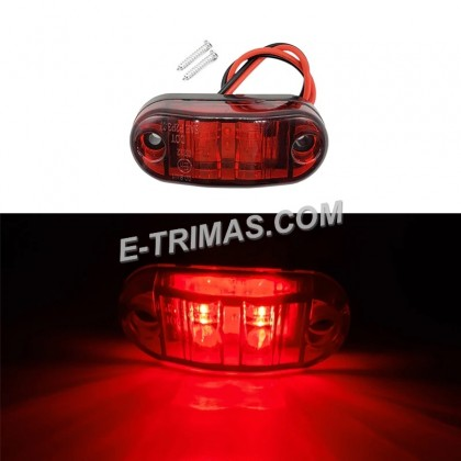 2 LED Side Marker Lights Lamp For Car Truck Trailer E-mark SAE