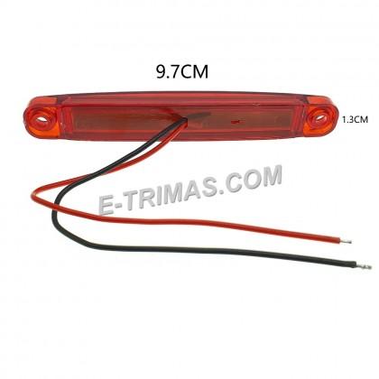 LED Flashing Blink Brake Tail Lights Rear Mini Marker Lamp Light For Lorry Truck Trailer