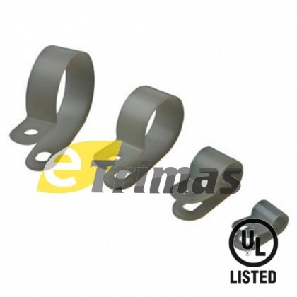 Conduit P Clips, Cable Clamp, Cable Fixing Screw Tie Mount (10PCS)