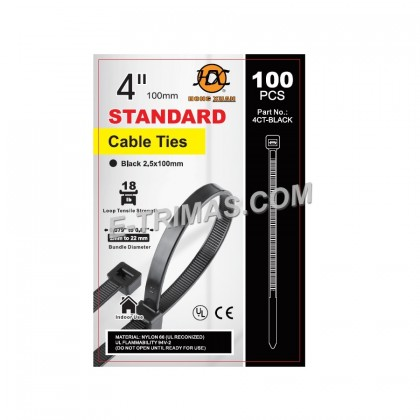 EXTRA THICK Heavy Duty Nylon Cable Tie RoHS PA66 UL Certified Ties Cord