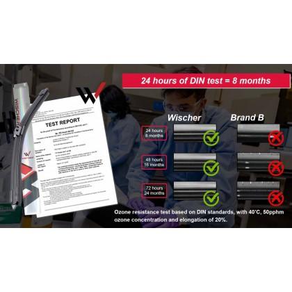 "U-Hook Boneless Original Wischer Nano-BOND Wiper Blade (12-30"" Inch) Perodua Proton Toyota Honda"
