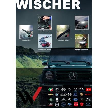 "Multi Adapter Clip Wiper Original Wischer Nano-BOND Blade (14-30"" Inch)"
