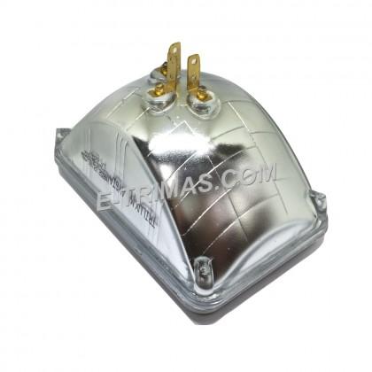 "5"" Square 12V 3 Pin Halogen Sealed Beam High Low Beam 60/55W"