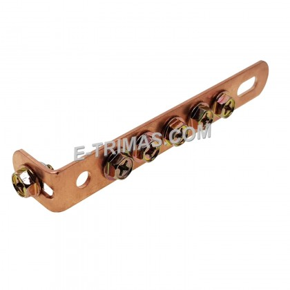 HEAVY DUTY L Plate Copper Clad Grounding Earth Cable Multi Connection Bracket