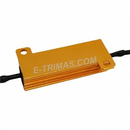 50W 6 ohm LED Load Resistor Car Led Light Bulbs Fix Error Free Canbus Cancel Decoder Turn Signal Blinker
