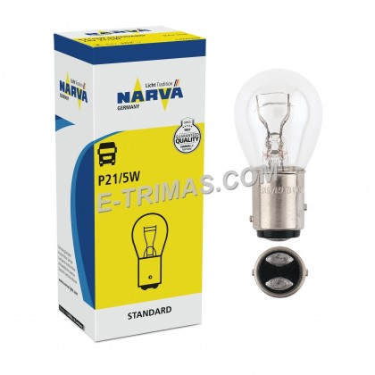 17925 Narva 24V ORIGINAL Germany BAY15d Brake Bulb (2PCS)