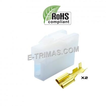 2 Way Female Pin Car Electrical Terminal Block Multi Connector Plug Socket Kit