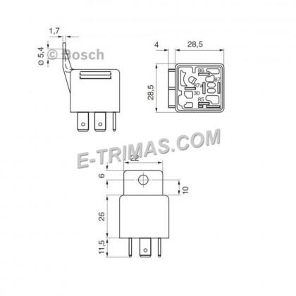 0332019150 Original Bosch 5 Pin 30A Relay 0332 019 150