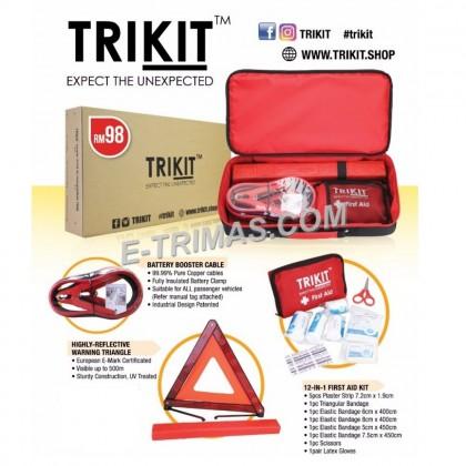 TRIKIT Premium Car Emergency Kit For Proton Perodua Toyota Honda