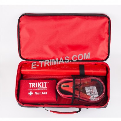 TRIKIT Premium Car Emergency Kit Roadside Safety Triangle Breakdown Tools