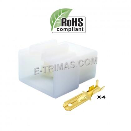 4 Way Male Car Electrical Terminal Block Multi Connector Plug Socket Kit