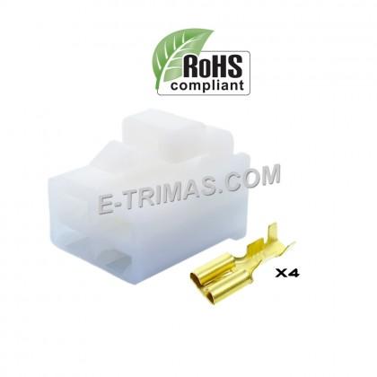 4 Way Female Car Electrical Terminal Block Multi Connector Plug Socket Kit