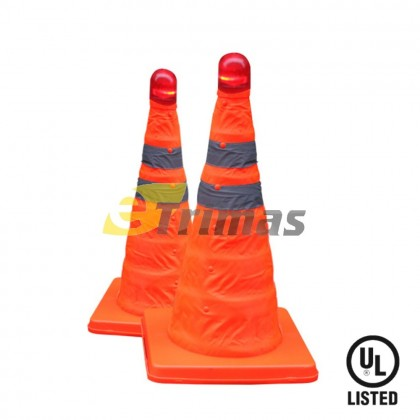 Retractable Foldable Traffic Cone Road Cone Safety Cone LED