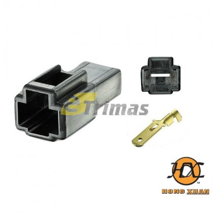 1 Way Male Pin 6.3mm Car Electrical Terminal Auto Connector Plug Socket Kit
