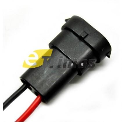 HX-6126-M 881, H8 & H11 Bulb Socket Male Connector