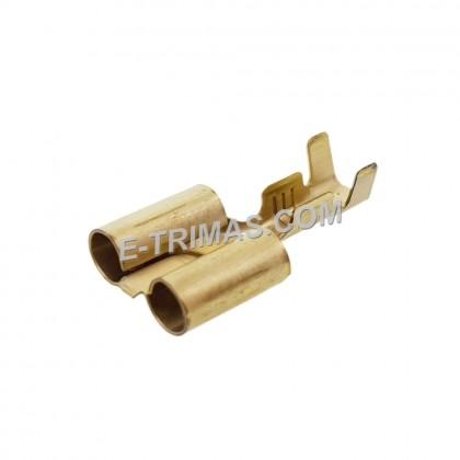 2 Way Dual Bullet Brass Terminal Clip Wire Pin (10PCS)