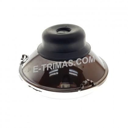 AutoPal India Quality 178mm Round Halogen Headlamp Unit (1PC)