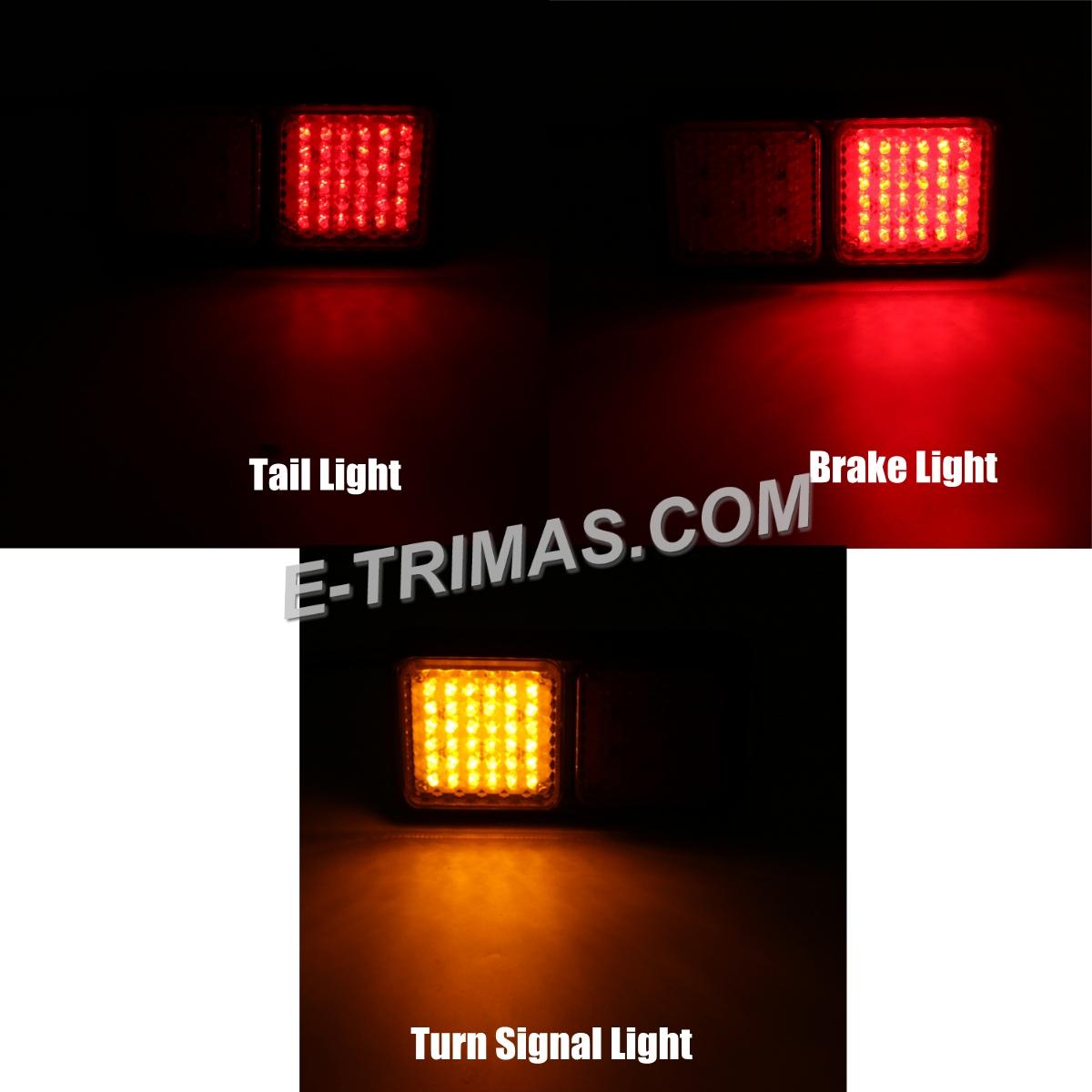 72LED Tail Light Lamp Brake Turn Signal Indicator Trailer Truck UTE Lorry 24V (1PC)