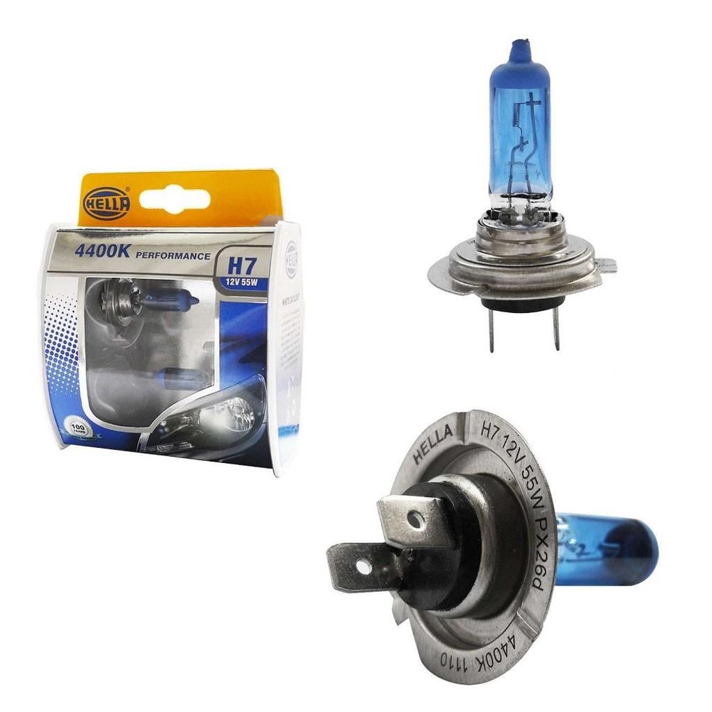 Hella Germany White DayLight Premium Halogen Bulb 4400K H1/H4/H7 (SET)