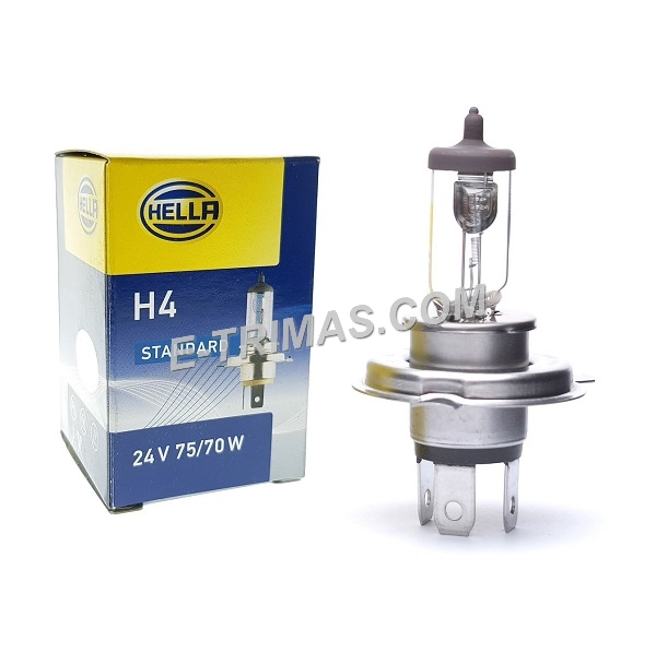 8GJ002525253 Genuine Hella H4 24V 75/70W Lorry Halogen Bulb Original