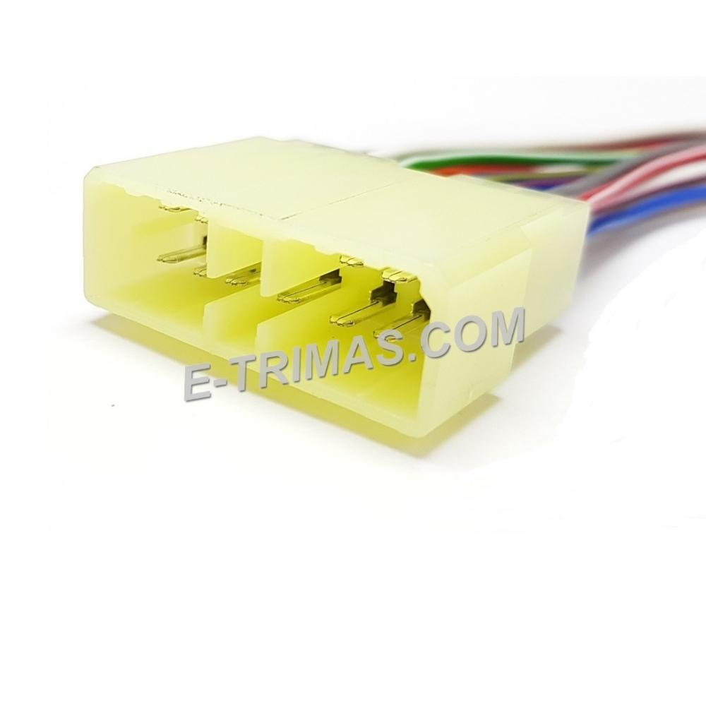 HX-3798-M 11 Pin Automotive Male Socket Connector