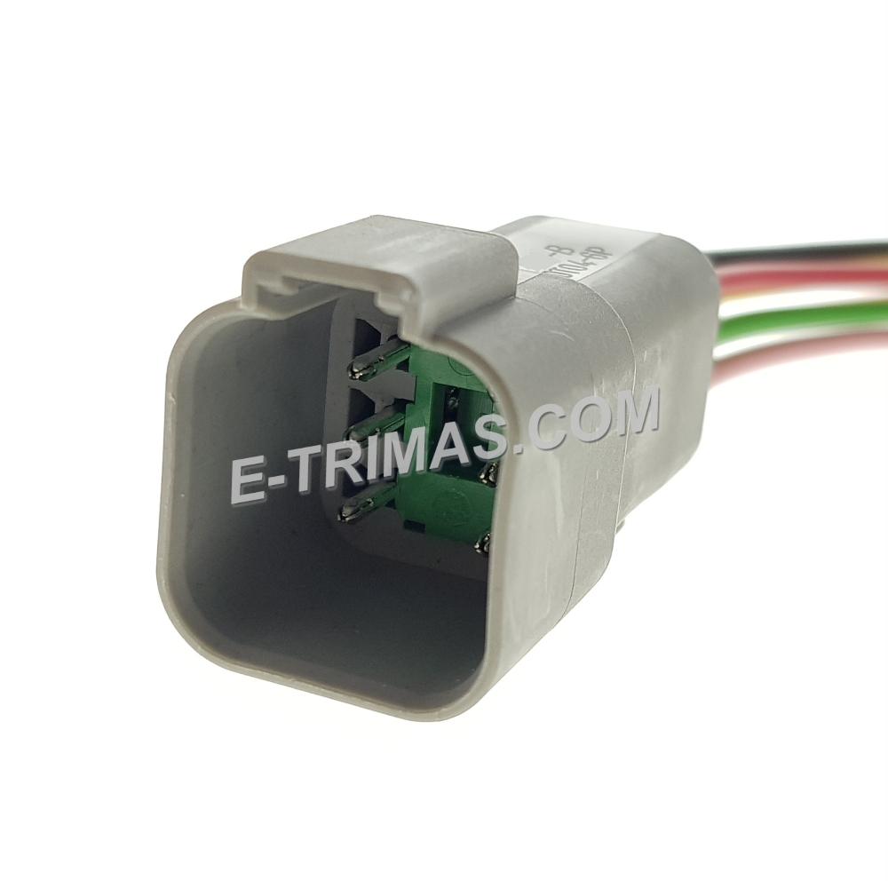 HX-83213-M 6 Pin Automotive Socket Connector