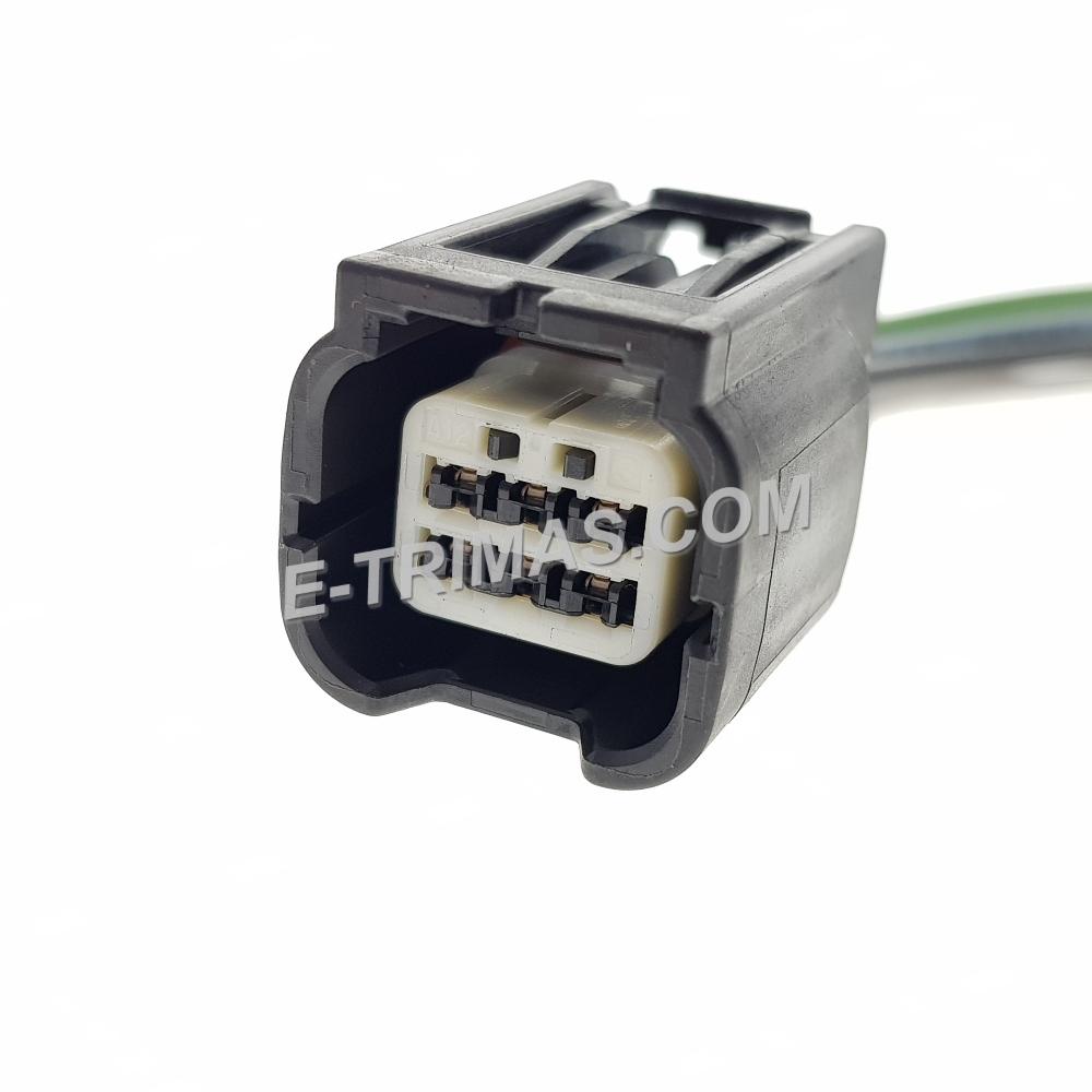 6 Pin Honda Daytime Running Light DRL Position Turn Signal Socket Connector
