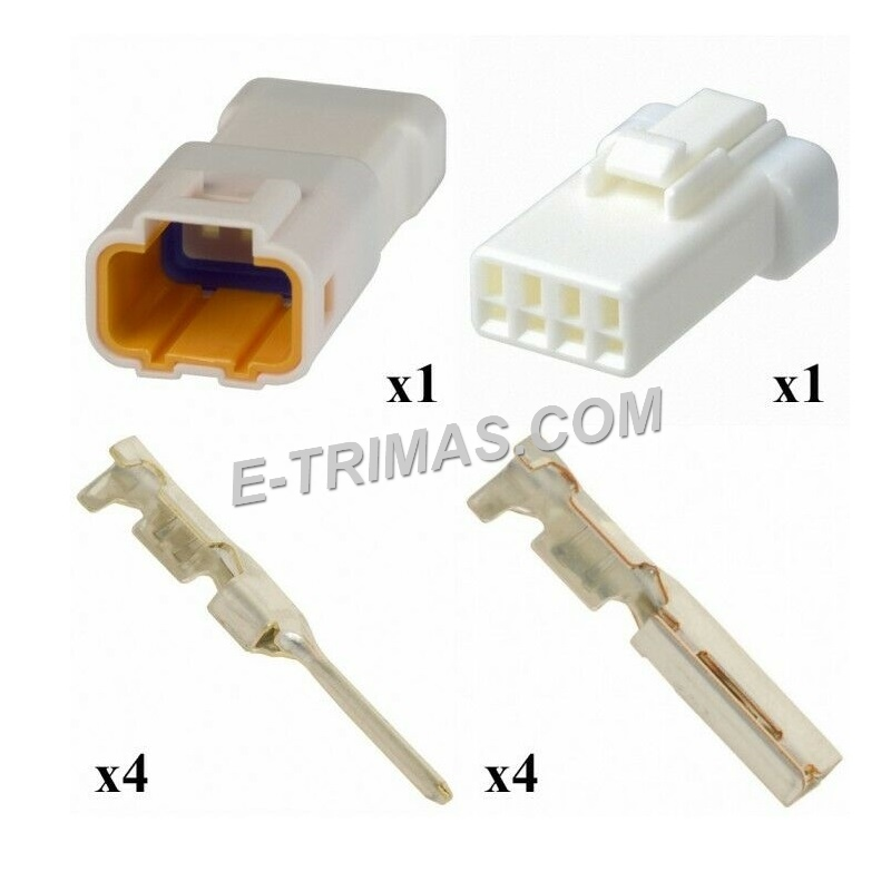 4 Way 2mm Pitch Electronic JST Type Housing Connector Socket (1SET)