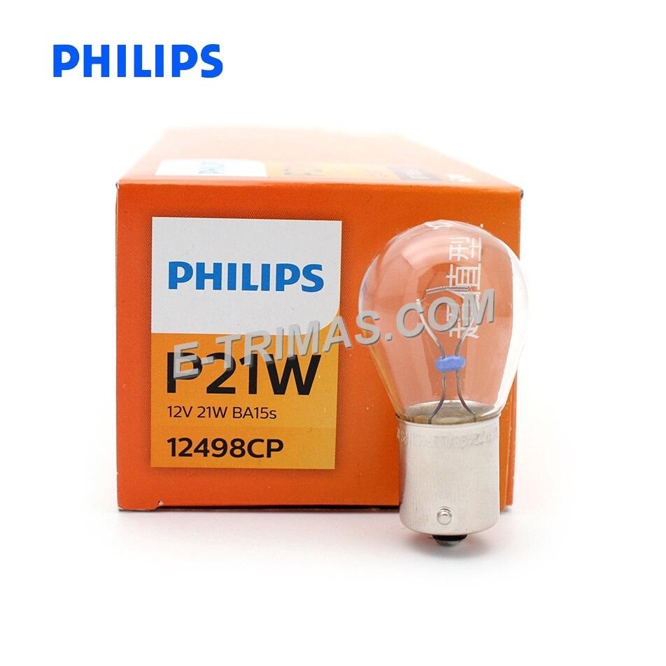 12498CP Genuine Philips Reverse Turn Signal Indicator Bulb P21W 1141 (2PCS)